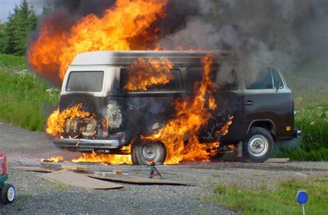 volkswagen fire history of the van archives hippie van manhippie van man