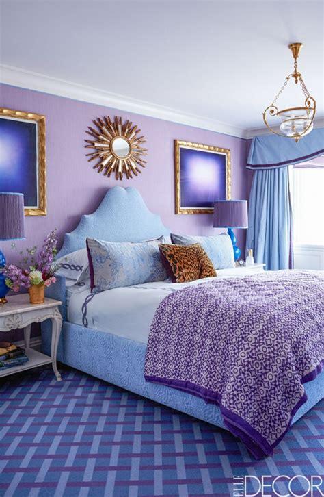 chambre bleu et chambre bleu et mauve photos de conception de maison