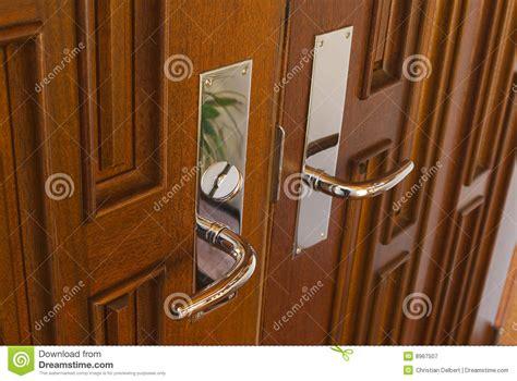 double door handles royalty  stock photography image