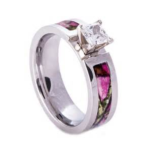 pink camo rings for camouflage wedding rings - Pink Camo Engagement Rings For