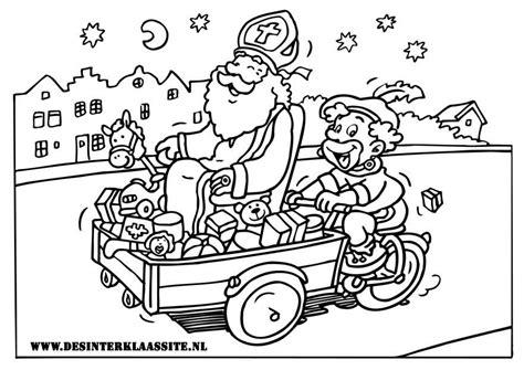 Kleurplaat Sint En Piet Op Fiets by Sinterklaas Kleurplaten Desinterklaassite Nl