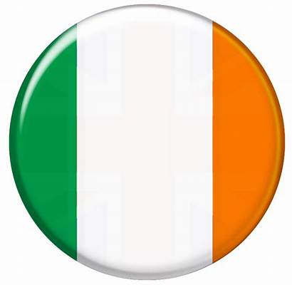 Ireland Irish Flag Button Cooler Bruce Bull