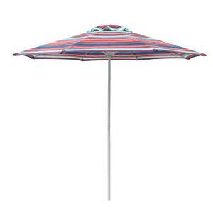 garden treasures round patio micro striped umbrella lowe