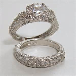 Antique Style Wedding Ring Sets for Women
