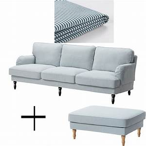 ikea stocksund 35 seat sofa and footstool ottoman With 5 seat sectional sofa cover