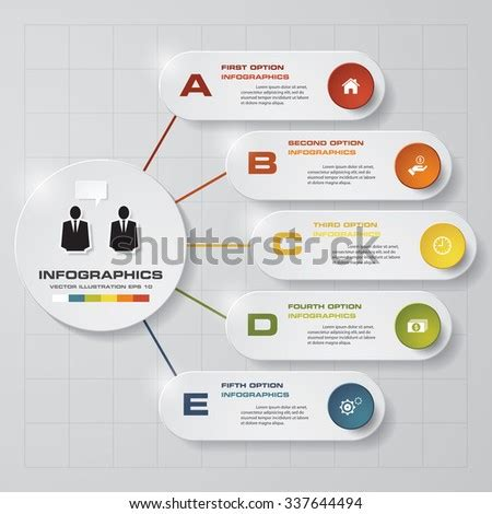 modern business template style web infographic stock