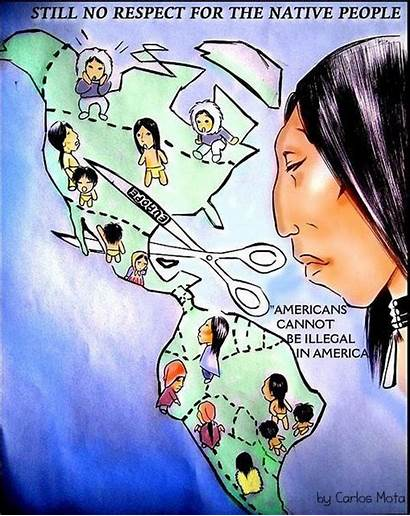 Native American Cartoon Illegal Political Immigration Americans