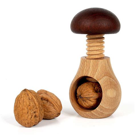 oak and alder wood nutcracker by the gorgeous company