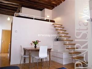 Studio Mezzanine Paris : affordable furnished alcove studio paris apartment long ~ Zukunftsfamilie.com Idées de Décoration