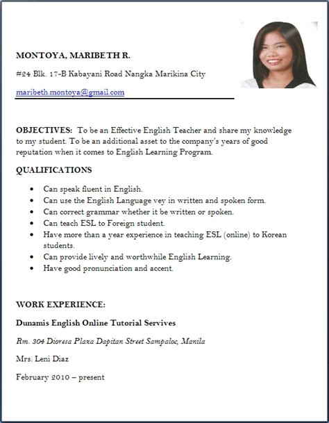 sle resume format application resume format