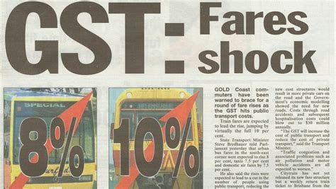 Flashback: GST cost increases fear | Gold Coast Bulletin