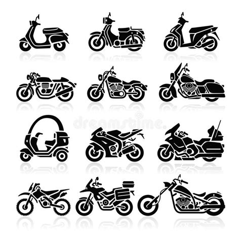 Piaggio Mp3 Business Backgrounds by Motorcycle Icons Vector Illustration Stock Vector