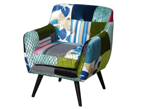 Westwood Patchwork Chair Fabric Vintage Tub Armchair Seat