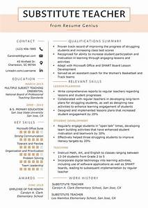 Cover Letters With No Experience Substitute Teacher Resume Samples Writing Guide Resume