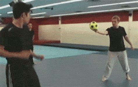 hilarious gifs  balls hitting people   face