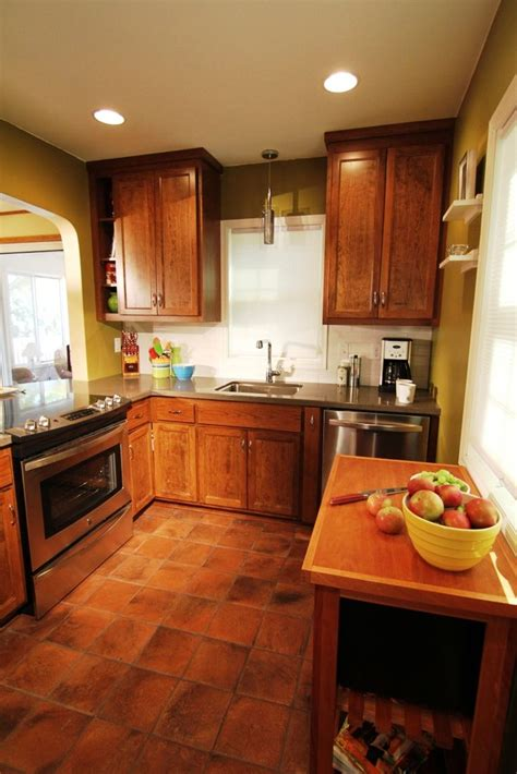 terracotta floor kitchen 17 best images about tile on 2695