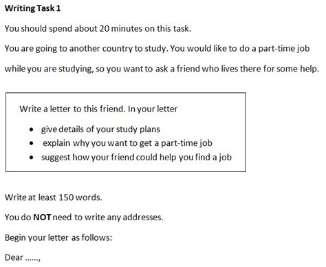 cambridge ielts  task  letter writing