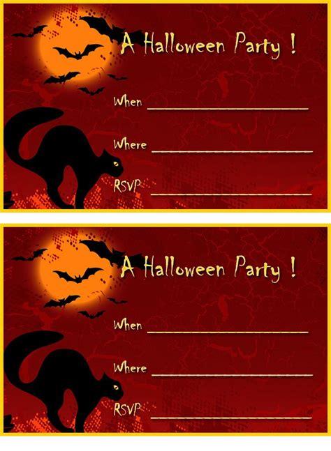 printable scary halloween invitations