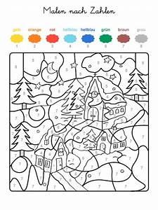 Adventskalender Zahlen Mathe : malen nach zahlen winterzauber ausmalen zum ausmalen printables pinterest malen nach ~ Indierocktalk.com Haus und Dekorationen
