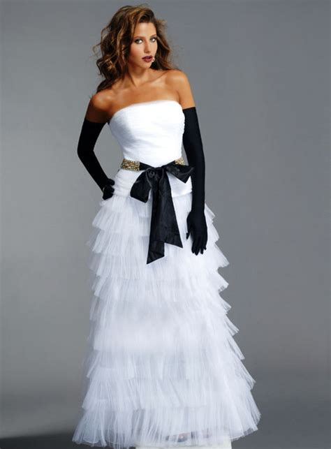 white dress wedding one stop wedding black and white wedding dress