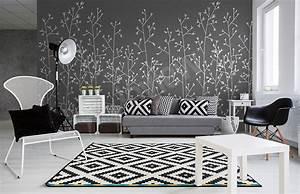 Papier Peint Rayé Noir Et Blanc : des articles le papier peint noir et blanc moins c ~ Dailycaller-alerts.com Idées de Décoration