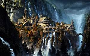wallpaper, , , rivendell, , the, lord, of, the, rings, , fantasy, art