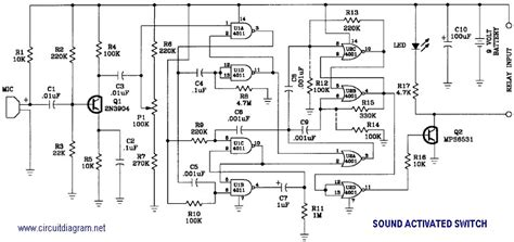 Sound Activated Switch Circuit Scheme