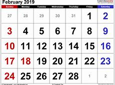 February 2019 Calendar Template monthly printable calendar