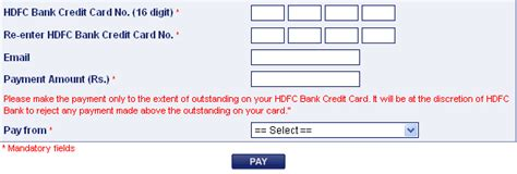 Hdfc credit card payment options are apparently many. HDFC Bill Desk ~ billdesk