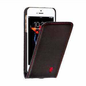iPhone SE, iPhone 5 and 5S Black Italian Leather Flip Case ...