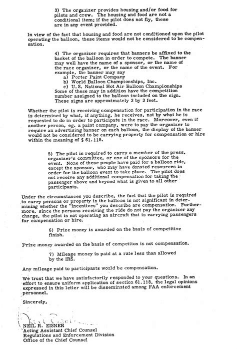 how to write a letter to a professor air balloons faa opinion on compensation 30545