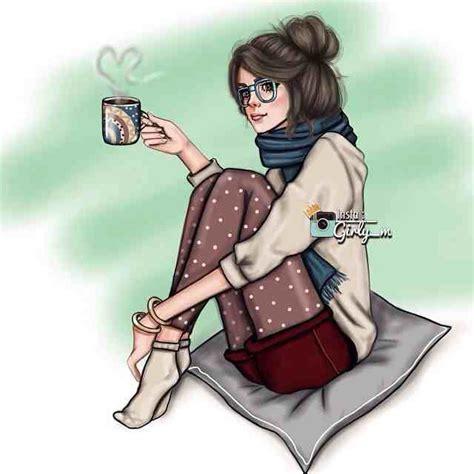 Não sou nada sem café Chicas dibujos Dibujos de chicas