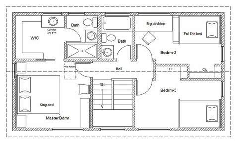 build floor plans 2 bedroom house simple plan simple house floor plan