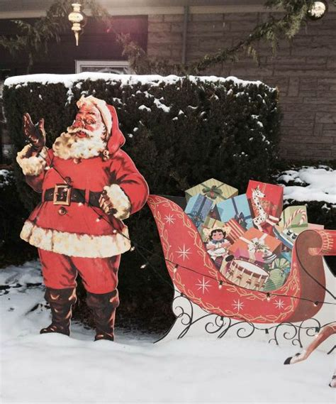 reindeer sleigh lawn decorations for christmas mike makes a u bild santa and reindeer lawn display from