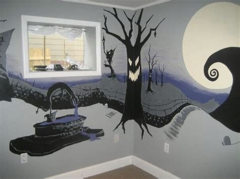 nightmare before christmas bedroom mural humble abode