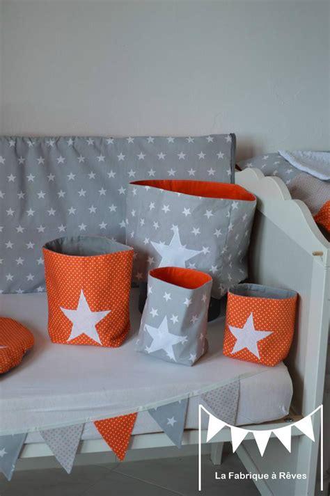 chambre bébé orange pochons rangement réversible chambre bébé garçon orange