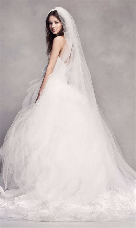 Strapless Tulle Ballgown Wedding Dress From White By Vera