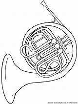 Kleurplaat Coloring Instruments Coloriage Musique Trombone Horn Instrument Kleurplaten Muziekinstrumenten Cor Musical Disegno Musica French Fun Trompa Printable Bugel Coloriages sketch template