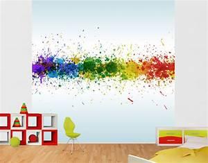 Regenbogen Tapete Kinderzimmer : vlies fototapete tapete rainbow splatter regenbogen farben tropfen bunt modern ebay ~ Sanjose-hotels-ca.com Haus und Dekorationen