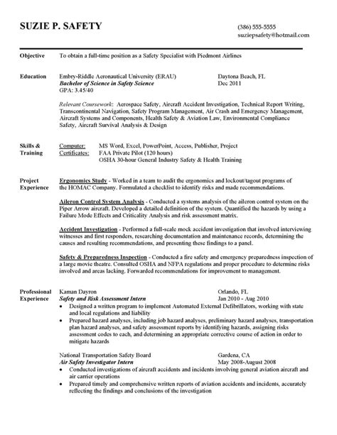 Pilot Resume Sle Pdf by 3100 Business Writing Department Of