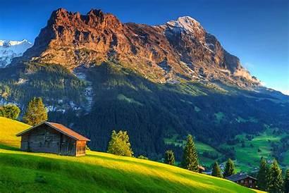 Switzerland Mountain Hut Eiger Swiss Travel Alps