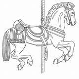 Carousel Coloring Boardwalk Drawing Cruz Santa Template Jones Sketch sketch template