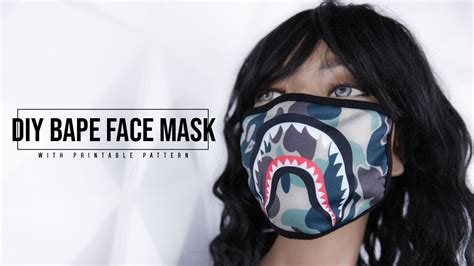 diy bape face mask youtube