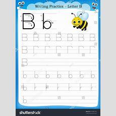 Writing Practice Letter B Printable Worksheet Stock Vector 232965163 Shutterstock