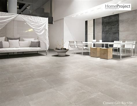 carrelage ciment gris 60 x 60 cm naturel rectifi 233