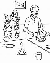 Coloring Pages Maddie Cooking Kitchen Father Omelette Liv Omelet Printable Sketch Template Getcolorings sketch template