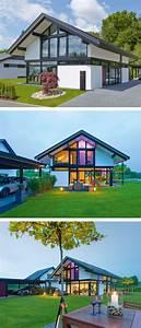 Moderne Häuser Mit Satteldach : moderne fachwerk haus architektur mit satteldach holz glas fassade einfamilienhaus als ~ Eleganceandgraceweddings.com Haus und Dekorationen