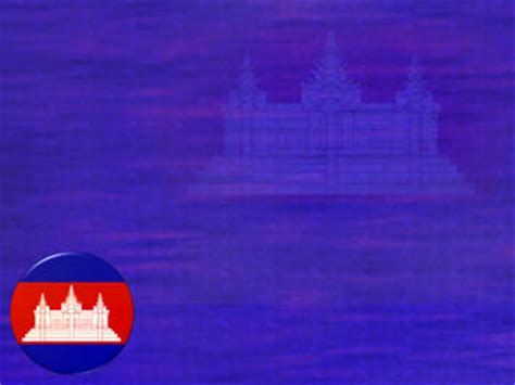 cambodia flag  powerpoint template