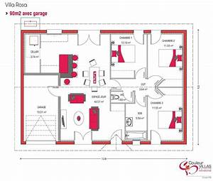 plan maison plein pied 90m2 1 plan maison pinterest With plan maison plein pied 90m2