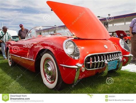 Classic 1955 Chevy Corvette Automobile Editorial Photo